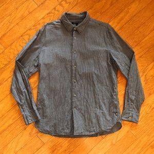John Varvatos plaid buttoned shirt large